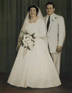 Ruth and John on their wedding day.