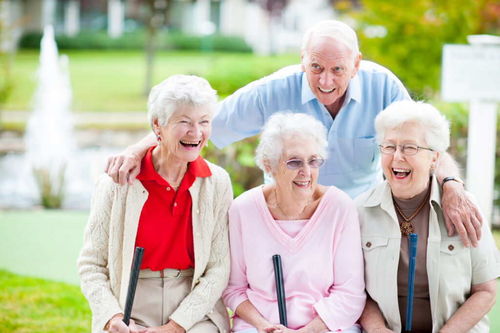 Older adults outdoors